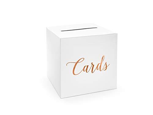 PartyDeco wYw Hochzeitspost-Box, Kartenhalter Box - Karten, Roségold