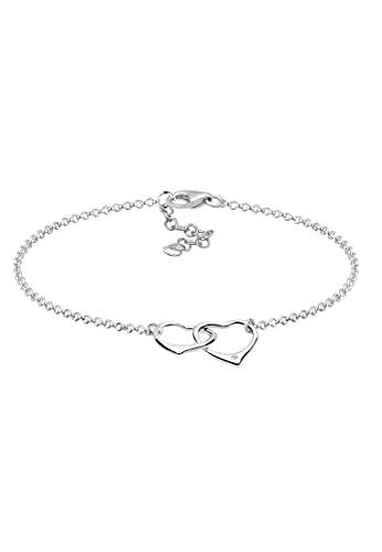 DIAMORE Armband Damen Herz Motiv Filigran mit Diamant (0.02 ct.) aus 925 Sterling Silber
