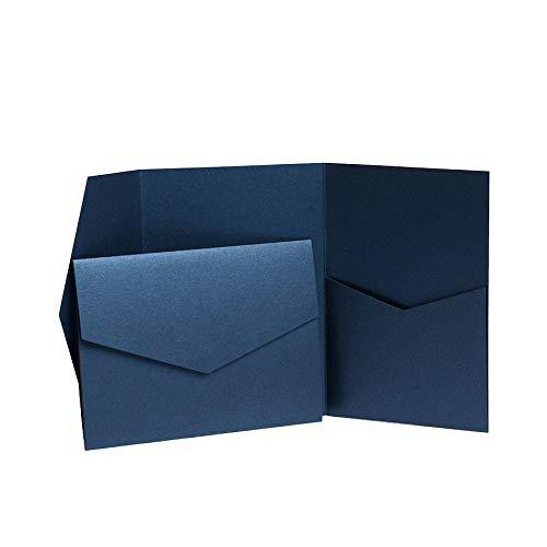 Saphir Blau, mit Perlglanz, jeweils 130 mm x 185 mm blau