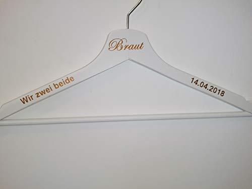 Personalisierte Kleiderbügel, Hochzeitskleiderbügel, Holzkleiderbügel, weiß