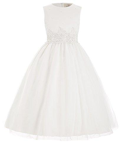 GRACE KARIN Prinzessin milchweiss Blumenmaedchen Kleid Party Kleid 9-10 Jahre