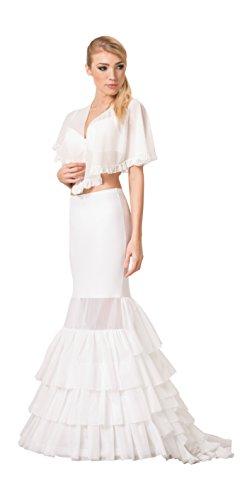 OssaFashion Brautkleid Fischschwanz Reifrock Unterrock fur das Hochzeitskleid Krinoline, Umfang 190 cm - 1 Reifen - Lange 105 cm