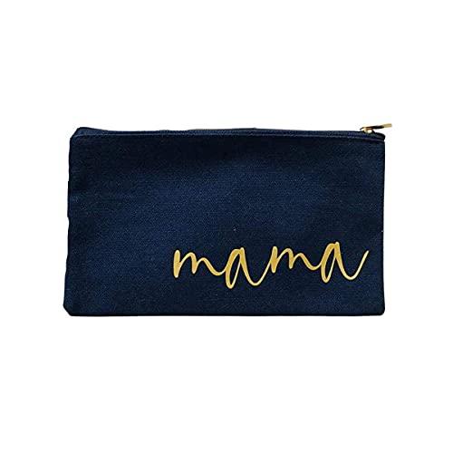 Kosmetikbeutel personalisiert mit Namen Navy gold in 2 Größen - Geschenk beste Freundin Kollegin Schwester