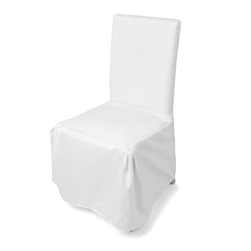 Stuhlhussen in weiß, 1er , moderne Stuhl Abdeckung, Husse für verschiedene Stühle, waschbar, Überwurfhusse geeignet für Hochzeiten und Feiern by Floyen Home