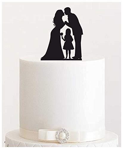 Cake Topper #16 Acryl, Tortenstecker, Tortenfigur, Hochzeitstorte (Schwarz)