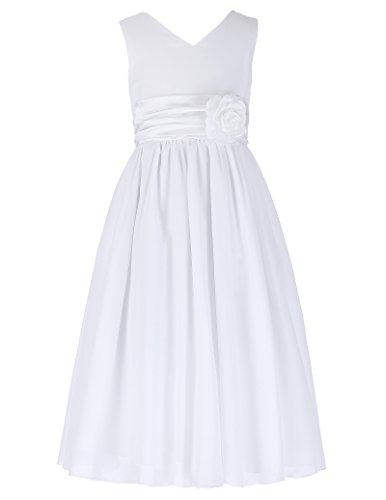 GRACE KARIN Prinzessin Blumenmaedchen Kleid festlich Kleid Chiffon 9-10 Jahre