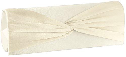 Emmy accessoires Shirley Clutch/Abendtasche Creme mit Tragekette