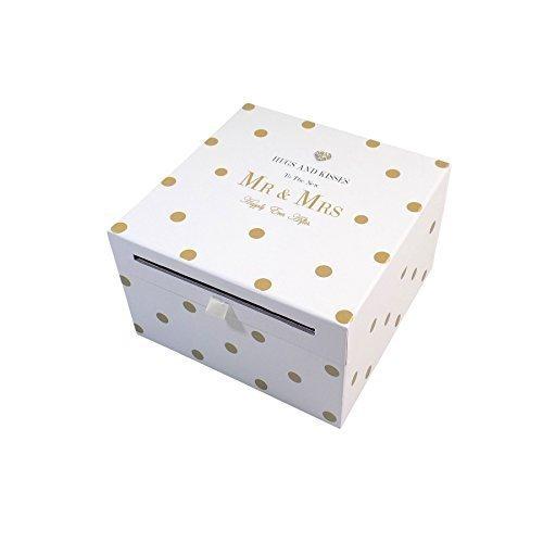UMARMUNGEN UND KüSSE ZU DEN NEU Mr & Mrs Diamant Gold Hochzeits Karte Sammlung Kiste