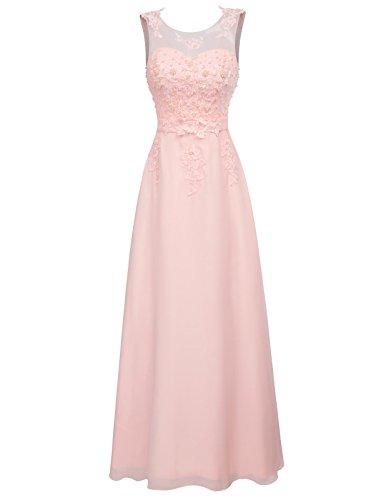 GRACE KARIN Elegantes Kleid mit Spitze Damen Sommerkleid Rockabilly cocktailkleid Partykleid mit Glitzer Pailletten 50 CL670-3