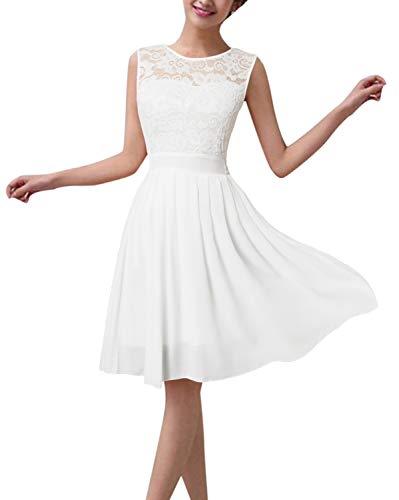 Kurz spitze kleid weiß Brautkleider Weiß
