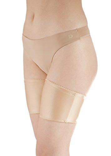 flirtyna Oberschenkelschoner, Schutz gegen Oberschenkelreibung, beige (58 cm Beinumfang)