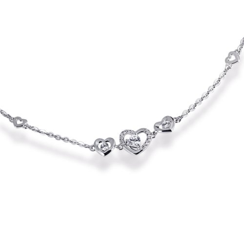 Goldmaid Damen-Armband 925 Sterlingsilber rhodiniert 13 weiße Zirkonia Schmuck