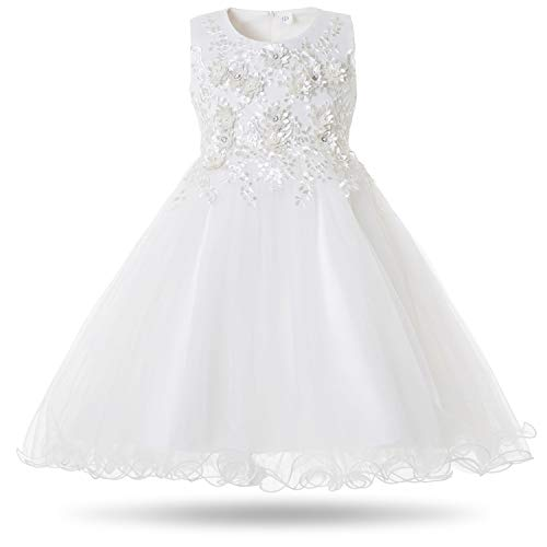 Mädchen Baby Prinzessin Tülle Kleid Blumenmädchenkleid Brautjungfern Hochzeit
