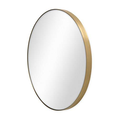 PHOTOLINI Spiegel Rund 50 cm Durchmesser Deko-Wandspiegel/Runder Spiegel/Rundspiegel