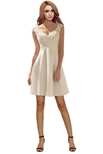 Milano Bride Elegant V-Ausschnitt Spitze Chiffon