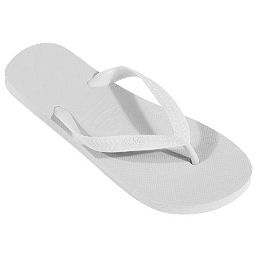 ZOHULA Flip Flops Großeinkauf - 10 Paare (Mx10, Weiß)