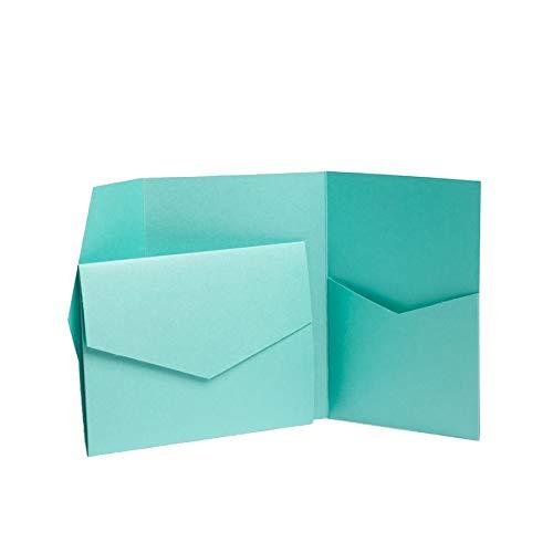 Türkis Blau Perlglanz lädt 130mmx185mm Blue/Turquoise