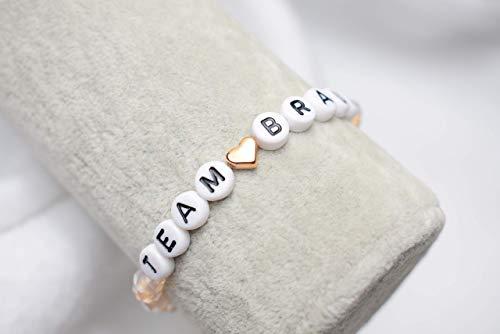 Wunderschönes JGA-Armband Team Braut vintage-rosé Hochzeit Brautgeschenk Perlenarmband Armband Trauzeugin