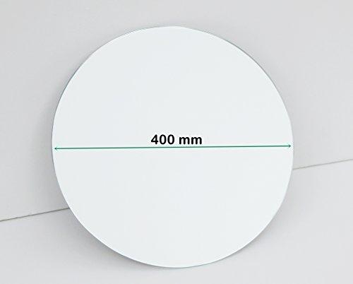 Glaseraugsburg Runder Spiegel 3 mm - Tischdeko/Spiegelplatte / Kreisspiegel - 40 cm Ø