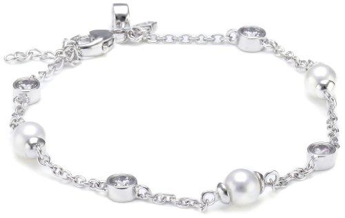 Diamonfire Damen-Armband Bridal 925 Silber rhodiniert Zirkonia Brillantschliff weiß 17 cm - 64/0464/1/111