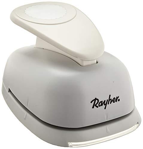 RAYHER Motiv-Stanzer: Rund, 7,6cm ø, (3'), Tab-Blister 1 Stück, Metall, weiß, 23 x 14 x 9 cm
