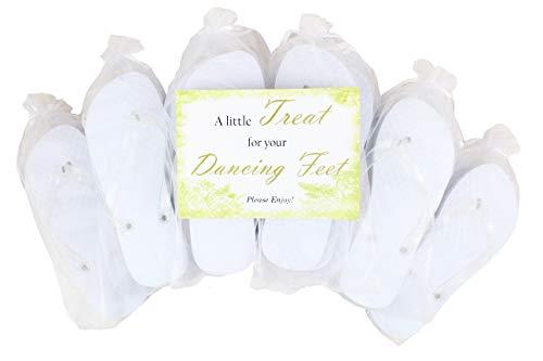Modo witte hart glitter strap flip flop 10 Pack bundel All in Organza zakken ideaal voor bruiloften, 2 Paare Größe 35-36, 5 Paare Größe 38-39, 3 Paare Größe 40-41