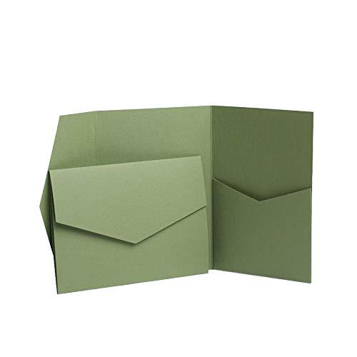Olive Grün matt Faltbare lädt 130mmx185mm grün