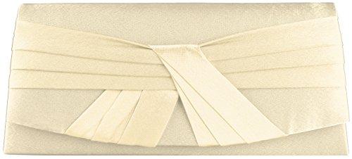 'Joana' Clutch/ Abendtasche Weiß mit Tragekette
