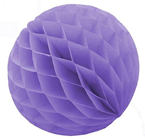 Sky 9 x Helles Lila Wabenbälle Papier Waben Honeycomb Balls Dekoration - 20cm