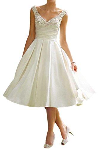 Milano Bride Vintag Elfenbein V-Ausschnitt