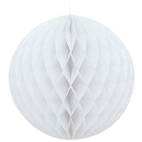 Sky 9 x Weiß Wabenbälle Papier Waben Honeycomb Balls Dekoration - 20cm
