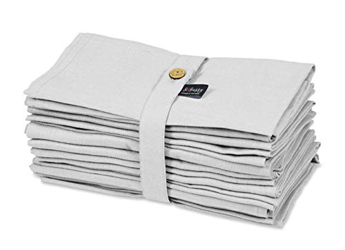 S4Sassy Weiß solide Wohnkultur 12-Teiliges Servietten-Set Aus Festem Leinen Für Den Täglichen Gebrauch