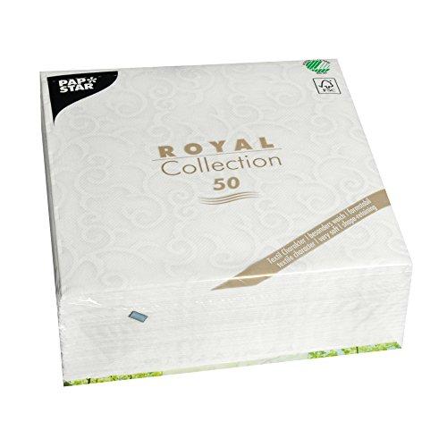 Papstar, 50 Servietten 'ROYAL Collection' 1/4-Falz 40 cm x 40 cm weiss 'Casali', #84876