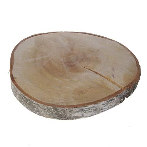 Mega Birkenholzscheibe - Baumscheibe - Natur - unbehandelt - ca.Ø 32-35 cm x ca. 3-4 cm Höhe - 1VE = 1 Stück - 26361