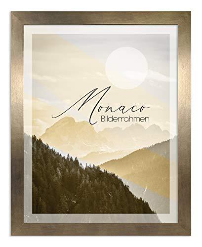 Bilderrahmen Monaco 50x70 cm in Bronze Dekor - Farbe und Größe wählbar