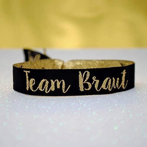 Team Braut (GERMAN) Hen Party JGA Armbänder ~ als kleines Geschenk für den Junggesellinnenabschied - Team Bride Wristband - JGA Bracelet