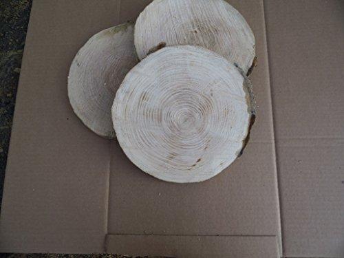 KJR Holzmanufaktur 10 Baumscheiben, Holzscheiben,Baumscheibe, ca. 20-25 cm, Astscheiben, Eiche