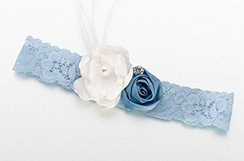 Vintage-Strumpfband, Blau -