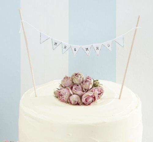 Mr & Mrs Girlande zur Kuchendekoration Hochzeitstorte - Vintage Lace