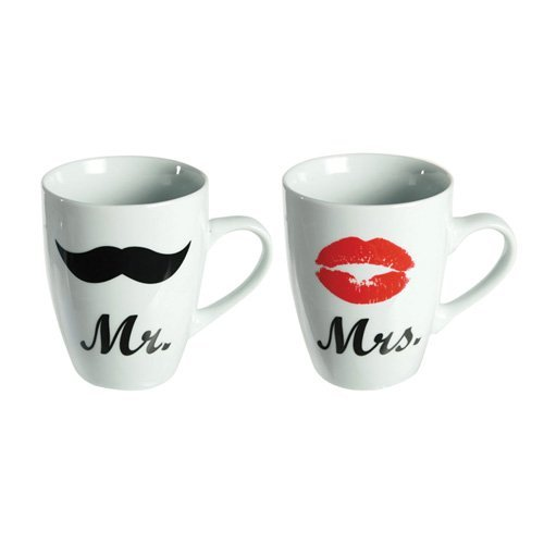 Out of the Blue Becher, Kaffeebecher 'Mr. und Mrs.' Geschenkset