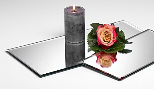 Glasplatte Spiegelplatte Mirror eckig 0,5 cm Ø 40,0 x 20,0 cm von Sandra Rich
