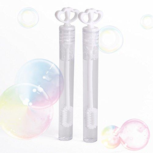 24tlg Seifenblasen Wedding Bubbles Hochzeit Trauung Doppelherz Gastgeschenk 10ml