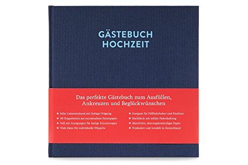 Glück & Segen Gästebuch Hochzeit Zum Ausfüllen Sophie Nachtblau