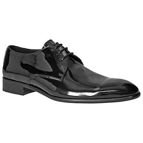 Herren Lack Derby Schuhe