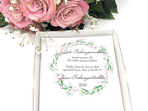 Hochzeit Geschenk Schwiegermutter - Stofftaschentuch für Freudentränen