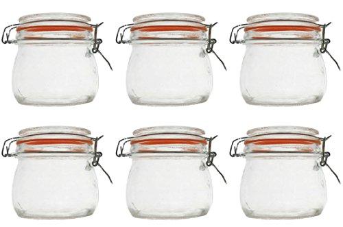 Einmachglas Vorratsglas mit orangenem Silikonring und Bügelverschluss 70 ml 250 ml 500 ml 1000 ml, Größe / Stückzahl:250 ml / 12 Stück