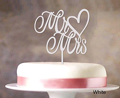 Printtoo Mr & Mrs Hochzeitstorte-Deckel Custom Cake Topper Color Option verfügbar 5'-6' Zoll breit