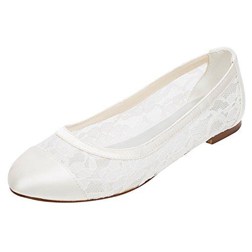 Emily Bridal Spitze Hochzeit Schuhe