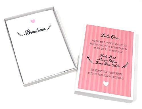 Hochzeit Geschenk Brautoma - Taschentuch für Freudentränen