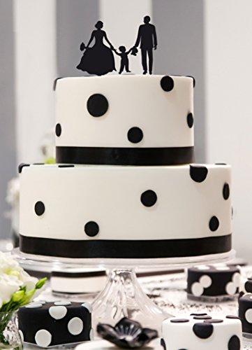 dueTORI Cake Topper Brautpaar mit Junge